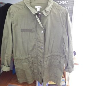Army green jacket, lightweight